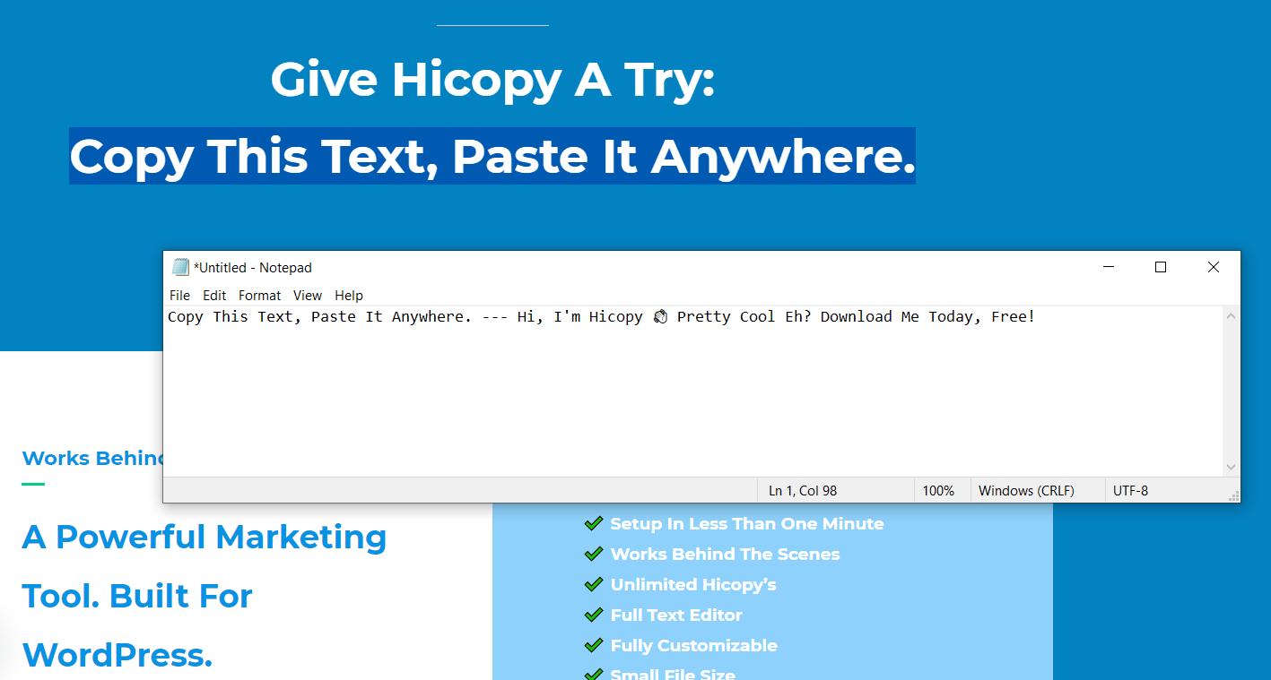 افزونه وردپرس جلوگیری از کپی شدن محتوا سایت Hicopy
