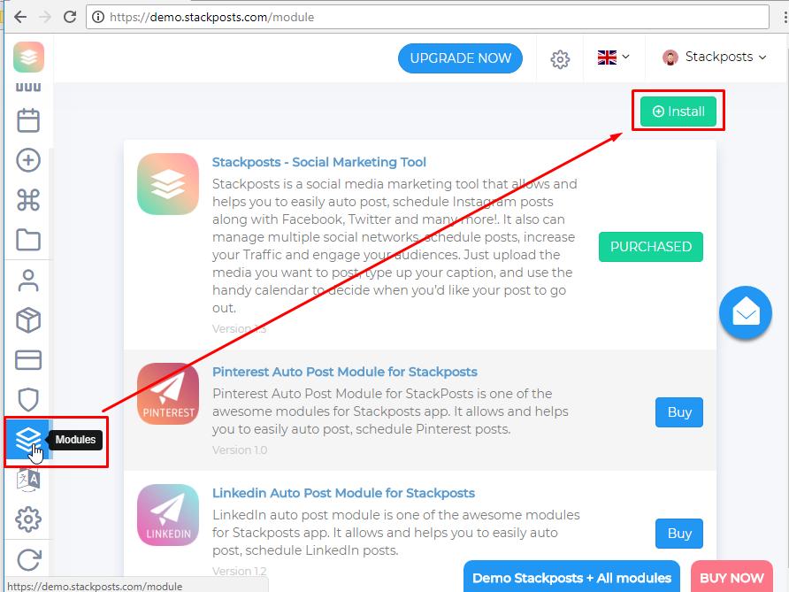 اسکریپت Stackposts رباط اینستاگرام و شبکه های اجتماعی ورژن 7.0.2