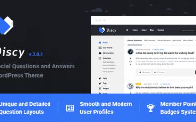 قالب وردپرس سایت پرسش و پاسخ discy ورژن 3.8.1
