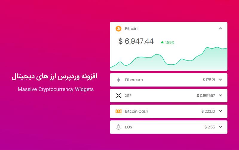 افزونه وردپرس ارز های دیجیتال Massive Cryptocurrency Widgets ورژن 3.1.4