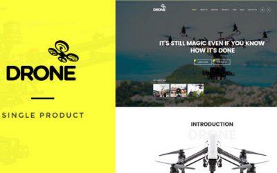 قالب فروشگاهی ووکامرس محصول تک صفحه ای Drone ورژن 1.18