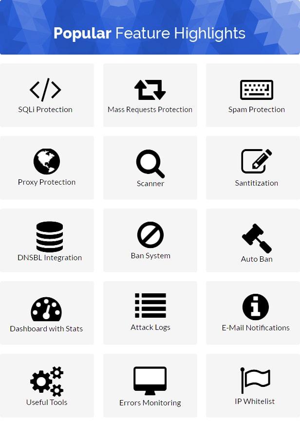 اسکریپت فایروال و حفظ امنیت وب سایت Project SECURITY