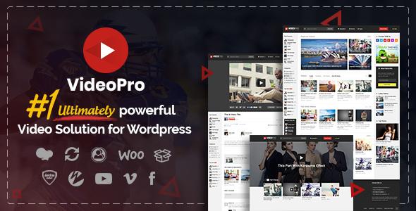 قالب وردپرس اشتراک گذاری ویدیو VideoPro ورژن 2.3.6.8